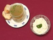 Rinderkraftbrühe Obazda mit Brot (Franziska Traub) - Rezept