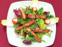 Asiatischer Salat mit Fisch und gefüllten Cocktailtomaten - Rezept