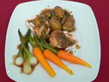 Hähnchenroulade mit Auberginen-Kartoffelcurry - Rezept