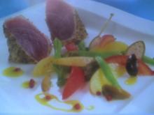 Salade Niçoise mit gebratenem Thunfisch - Rezept