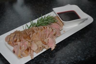 Rosmarin-Honig-mariniertes  Schweinefilet - Rezept
