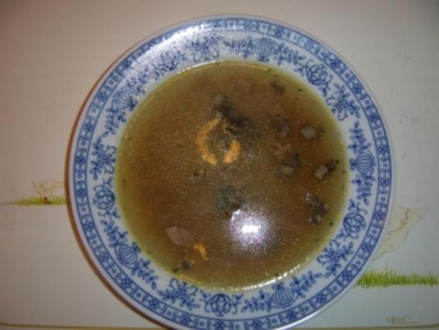 Falsche Wurstbrühsuppe auf die Schnelle - Rezept