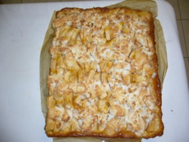 Apfelkuchen mit Kokosgitter - Rezept