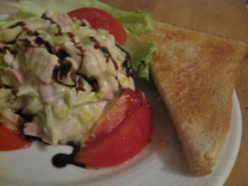 Lauch - Schinkensalat einfach lecker für den kleinen Hunger - Rezept