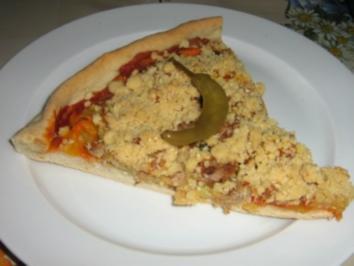 Pizza mit Streusel - Rezept