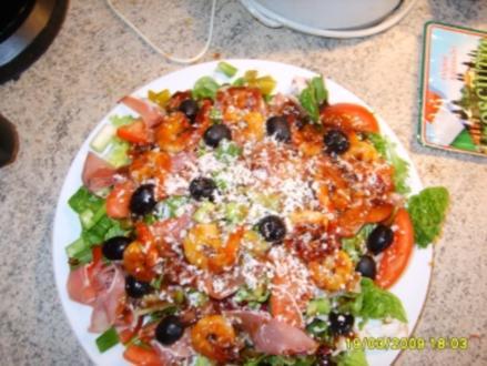 Italienischer Salat mit Gambas - Rezept