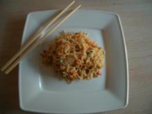 Asia-Nudeln mit Hähnchen u. Ei - Rezept