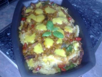 Nudel-Schnitzel-Gratin - Rezept