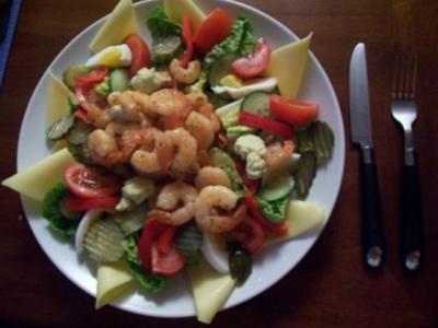 Jeanne's Garnelen-Salat-Platte - Rezept