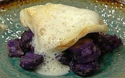 Steinbutt mit Trüffelschaumsößchen - Rezept