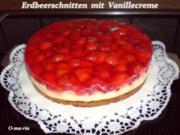 Kuchen  Erdbeerschnitten mit Vanillecreme - Rezept