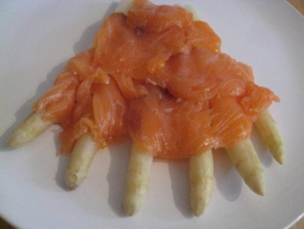 Überbackener frischer Spargel mit Orangenhollandaise & neuen gebräunten Drillingen - Rezept