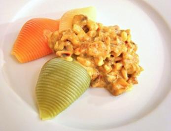 Muschelnudeln mit Thunfisch-Sugo - Rezept