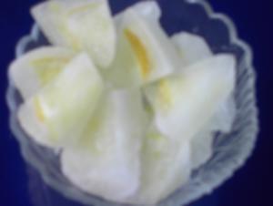 Zitronen - Eiswürfel - Rezept