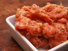 Beefsteak Tatar mit französischem Senf und Honig - Rezept