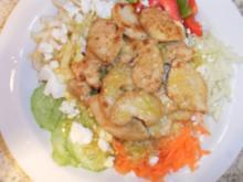 Gemischter Salat mit Hähnchenbrust und Schafkäse - Rezept