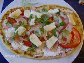 Naan-Bread-Pizza - Rezept