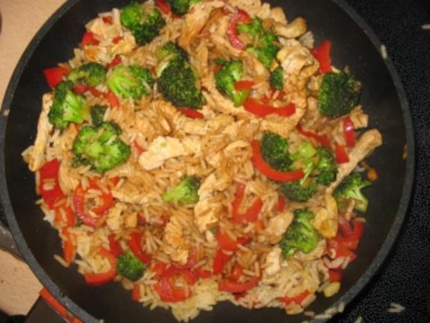 Putenbrust mit Curryreis - Rezept