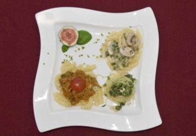 Pasta Norberto - Tris di Pasta, 3 verschiedene Nudelsorten à 100 g (Norbert Schramm) - Rezept
