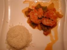 Shrimps Creole auf Reis - Rezept