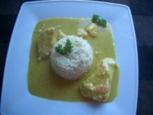 Curry-Brüstchen mit Kokos und Ananas - Rezept