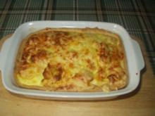 Käse-Karfiolauflauf mit Mürbteig - Rezept