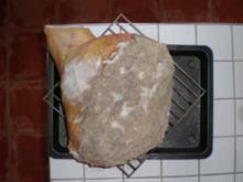 1. Langzeitprojekt Schweinekeule in der Asche gereift - Rezept