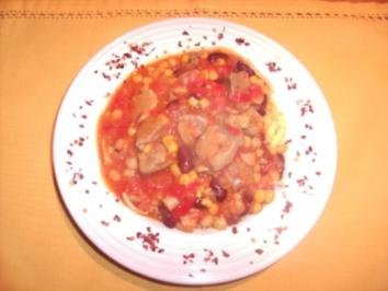 Bunter Schweinegulasch - Rezept