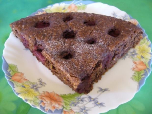 Torten: Nuß-Schokolade-Torte mit Kirschen - Rezept - Bild Nr. 3