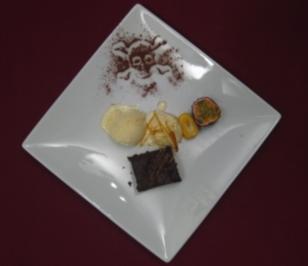 Brownies mit Eiscreme - Rezept