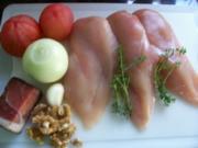 FLEISCH: Emis Hähnchenbrustfilets in mediterraner Sauce mit Conchiglioni und Brokkoli - Rezept