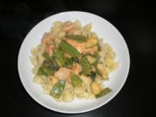 Hähnchen-Gemüse mit Nudeln - Rezept