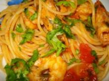 Spaghetti ai gamberi - Rezept