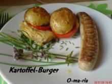 Kartoffelernte   Kartoffel~Burger - Rezept