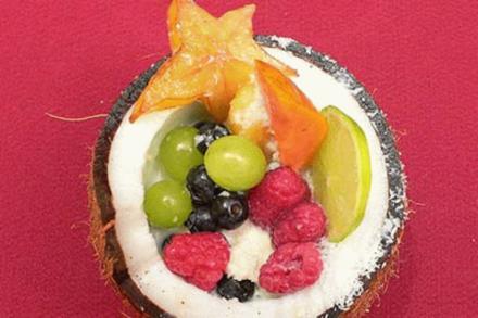 Safari-Eis mit Fruchtbowle - Rezept