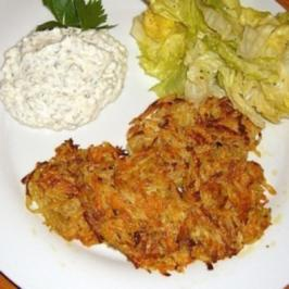 Gemüse - Rösti mit Kräutercreme - Rezept