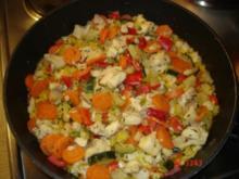 Bunte Fischpfanne mit Gemüse - Rezept