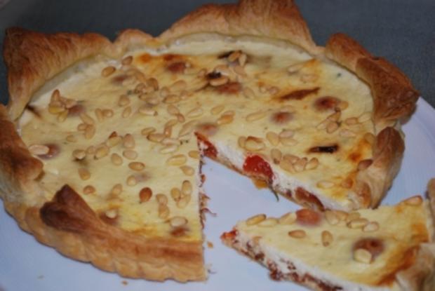 Tomaten-Ziegen-Quiche - Rezept