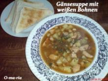 Suppe   Gaensesuppe mit weissen Bohnen - Rezept