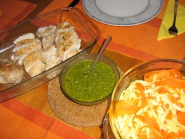 Erdnuss-Basilikum-Bärlauch-Pesto - Rezept