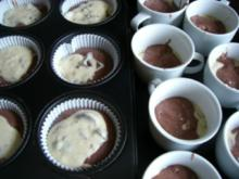 """Muffins : """" Schwarz-weiß """" Muffins - Rezept"""