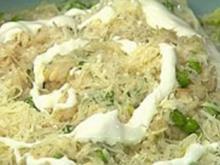 Kopfsalatrisotto mit Erbsen und Ziegenjoghurt - Rezept