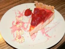 Erdbeere vermählt sich mit Käsekuchen oder - Rezept