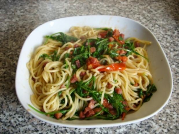 Spaghetti mit Rucola - Rezept