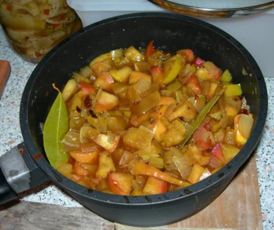 Apfel-Chutney mit Curry - Rezept