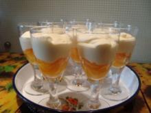 Dessert - Barock-Creme auf Aprikosen-Kompott - Rezept