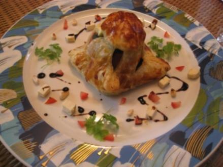 Tomate im Schlafrock /  vegetarisches Gericht - Rezept