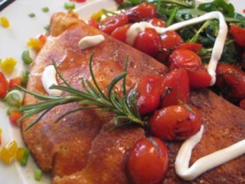Schaumomelette von Ziegenfrischkäse mit Rosmarin & Akazienhonig - Rezept