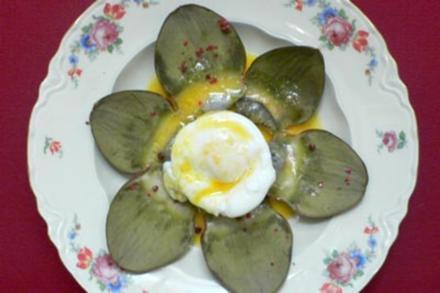 Pochierte Eier auf Artischockenböden - Rezept - Bild Nr. 16