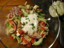 Salat : Griechischer Nudelsalat - Rezept